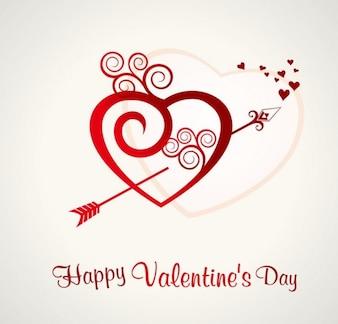 el corazón de San Valentín de fondo días