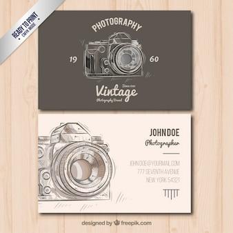 El fotógrafo negocio de tarjetas en estilo vintage