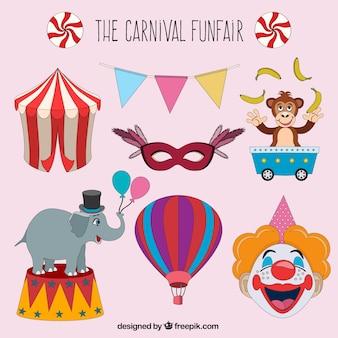El parque de atracciones de carnaval