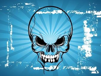 El terror de dibujos animados cráneo