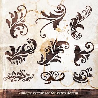 Elegancia broche de oro tarjeta divisora de filigrana