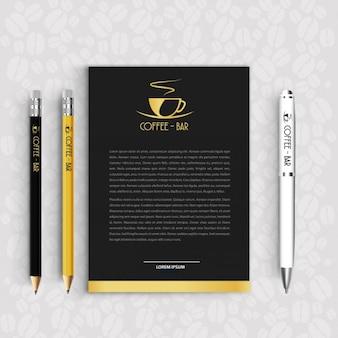 Elegante carta de cafetería