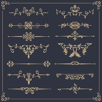 Elegante colección ornamental