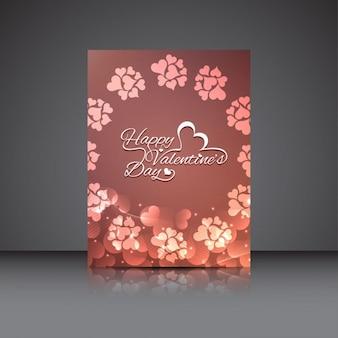 Elegante diseño de folleto de Día de San Valentín