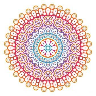 Elegante diseño floral étnico de colores