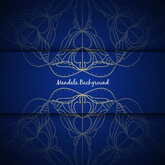 Elegante fondo azul de mandala