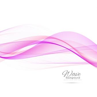 Elegante fondo de onda rosa