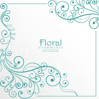Elegante marco ornamental floral