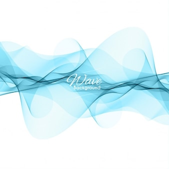 Elegante ola azul de fondo