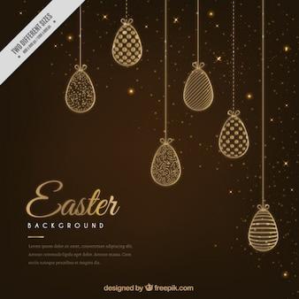 Elegante Pascua huevos adornos de fondo