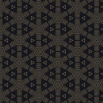 Elegante patrón oscuro con formas geométricas
