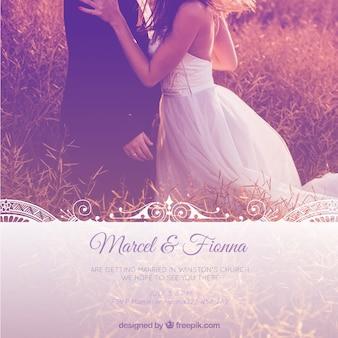 Elegante plantilla para invitación de boda