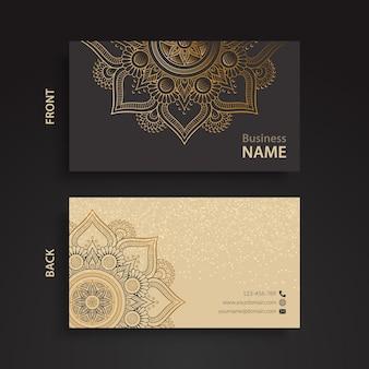 Elegante tarjeta corporativa con ornamentos