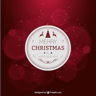Elegante tarjeta de Navidad de color rojo