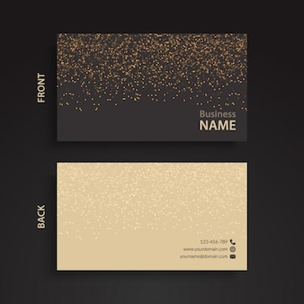 Elegante tarjeta de visita con dos colores