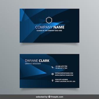 Elegante tarjeta de visita poligonal