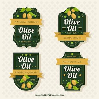 Elegantes etiquetas de aceite de oliva