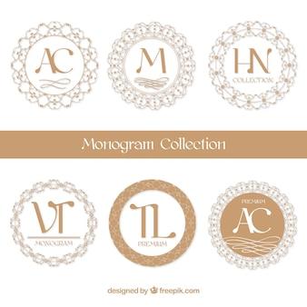 Elegantes monogramas circulares
