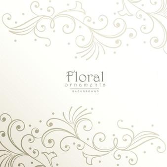 Elegantes ornamentos florales plateados