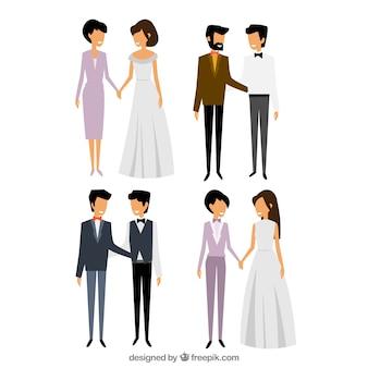 Elegantes parejas homosexuales