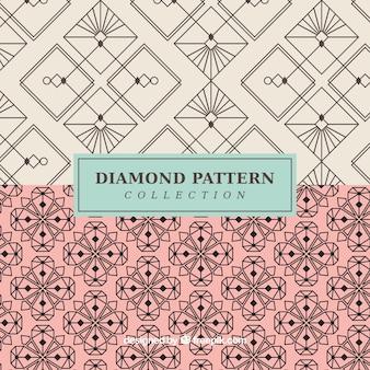 Elegantes patrones vintage abstractos