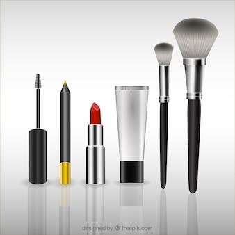 Elementos 3d de maquillaje