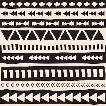 Elementos aztec blancos y negro