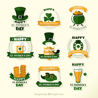 Elementos bonitos de feliz día de San Patrick