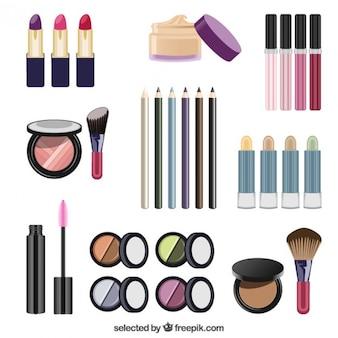 Elementos cosméticos de mujeres