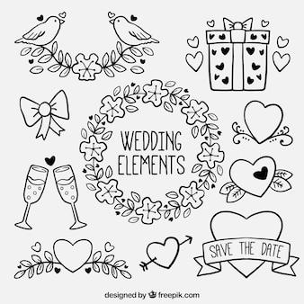 Elementos de boda fantásticos