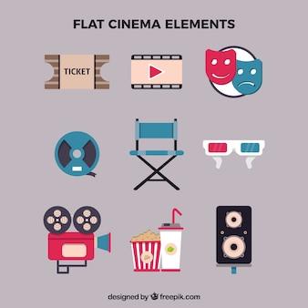 Elementos de cine planos