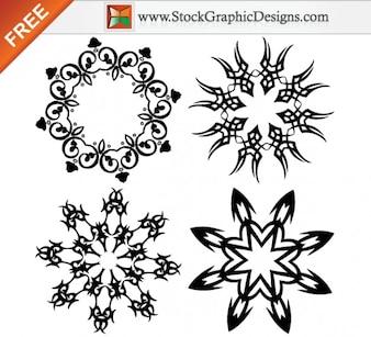 Elementos de diseño adornado Free Vector Ilustración Gráfica