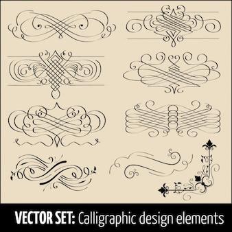 Elementos de diseño caligráficos
