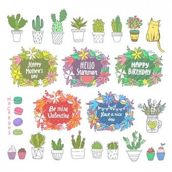 Elementos de diseño coloridos
