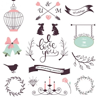 Elementos de diseño de boda