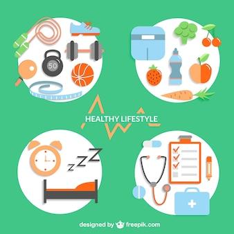 Elementos de diseño de estilo de vida saludable