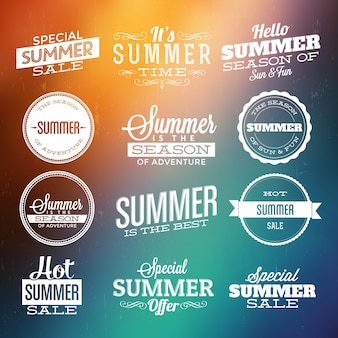 Elementos de diseño de verano
