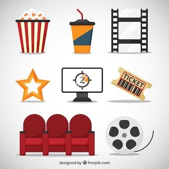 elementos de entretenimiento planas