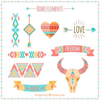 Elementos de estilo boho estilosos