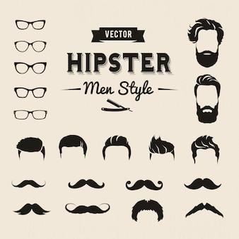 Elementos de hombres hipsters