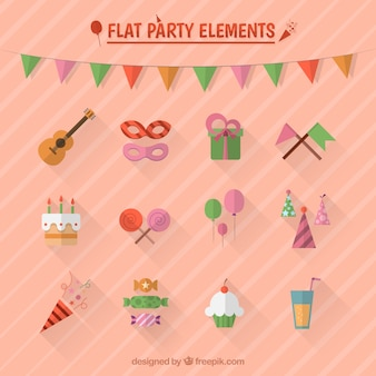 Elementos de la fiesta Plat