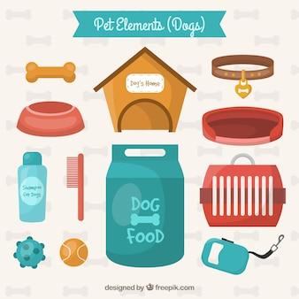 Elementos de mascotas para perros
