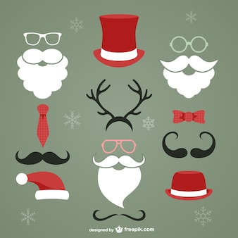Elementos de Navidad de estilo hipster
