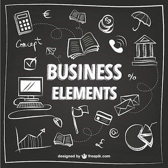 Elementos de negocios blancos