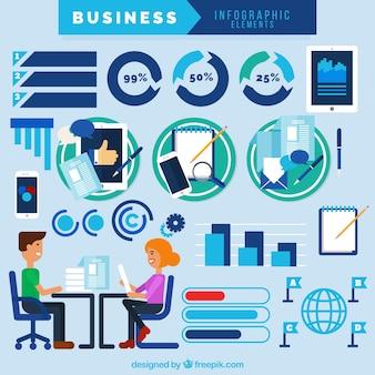 Elementos de negocios e infográficos