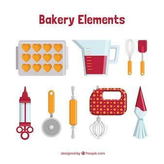Elementos de pastelería bonitos