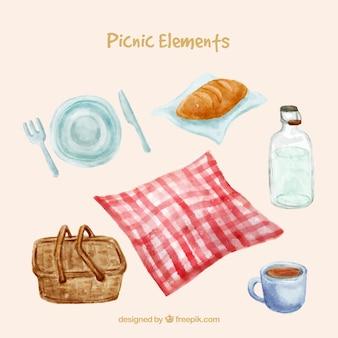Elementos de picnic románticos