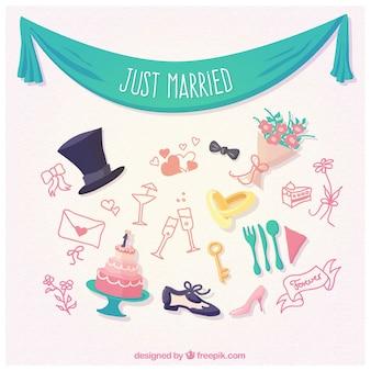 Elementos de recién casados