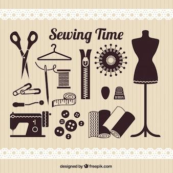 Elementos de tiempo de coser