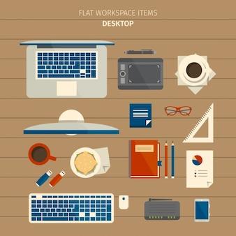 Elementos de trabajo de diseñador